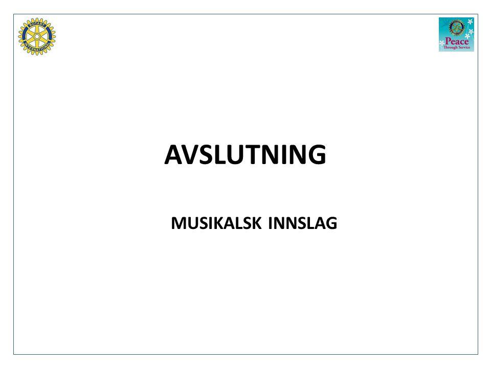 AVSLUTNING MUSIKALSK INNSLAG