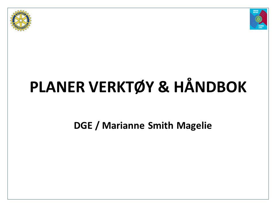 PLANER VERKTØY & HÅNDBOK DGE / Marianne Smith Magelie
