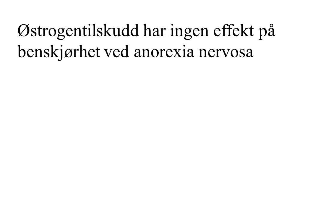 Østrogentilskudd har ingen effekt på benskjørhet ved anorexia nervosa