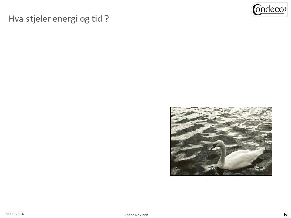 Hva stjeler energi og tid ? Frode Reksten 6 28.06.2014