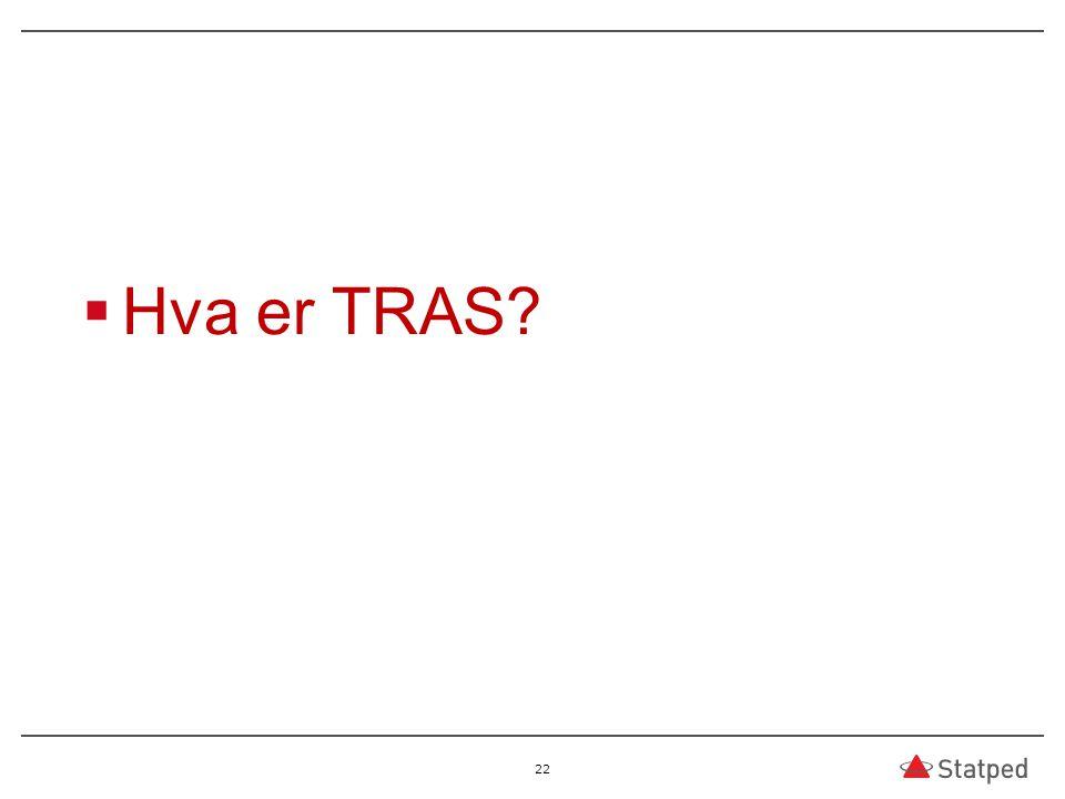  Hva er TRAS? 22