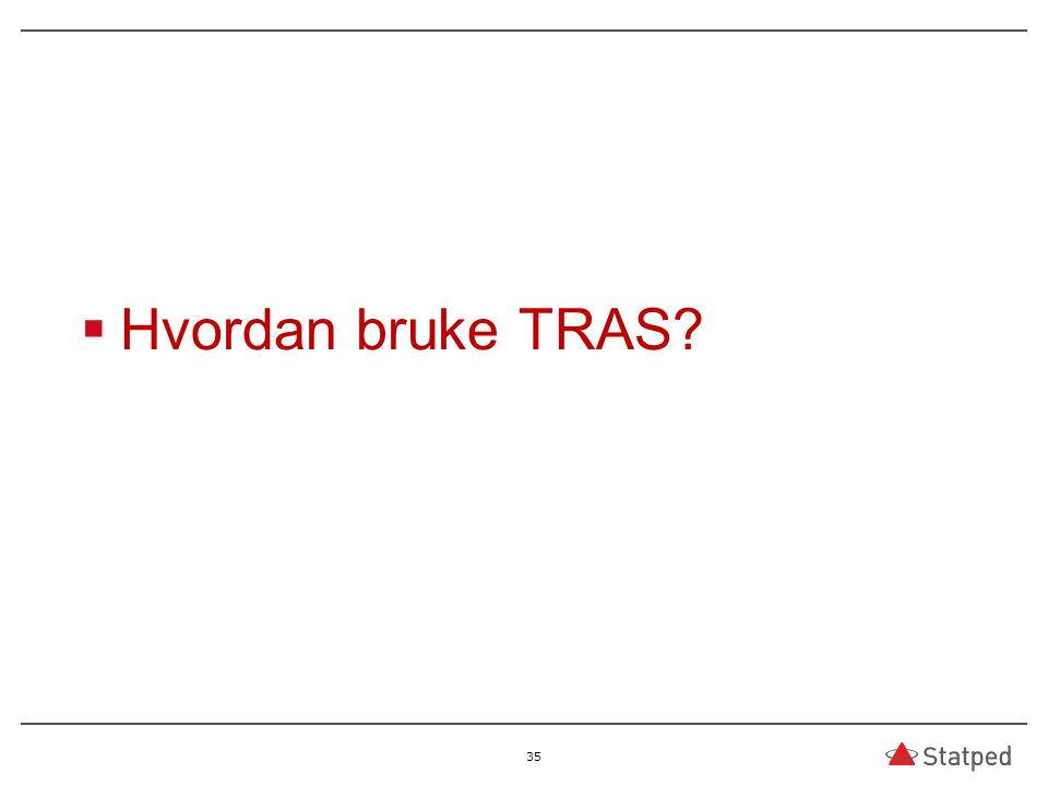 Hvordan bruke TRAS? 35