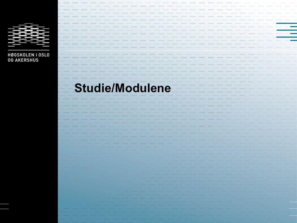 Studie/Modulene