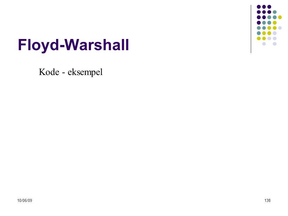 10/06/09138 Floyd-Warshall Kode - eksempel