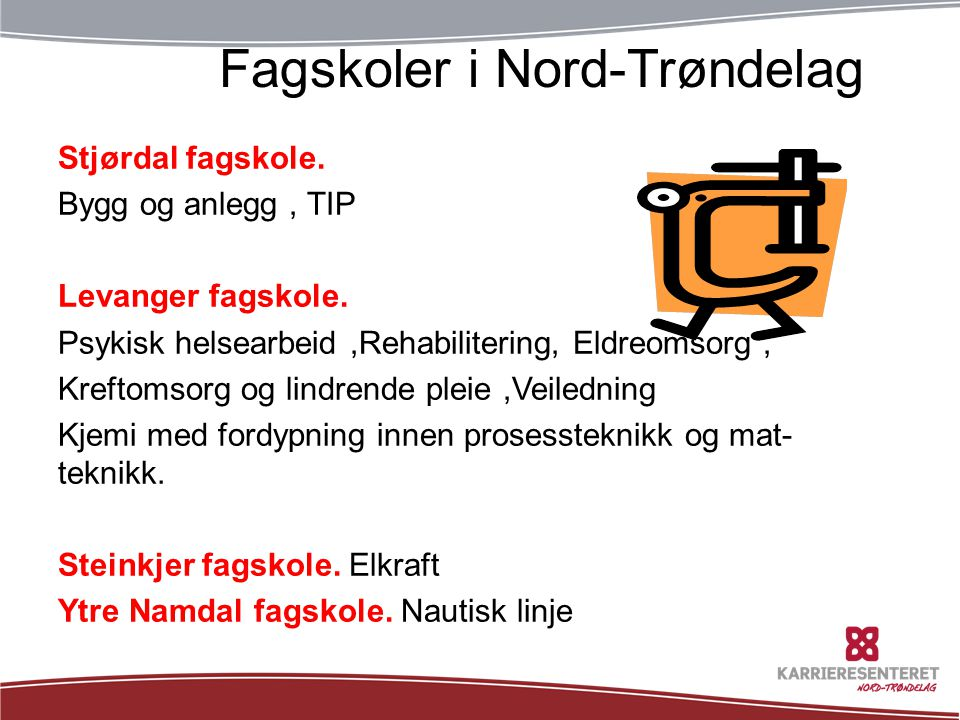 TøffeFagskoler i Nord-Trøndelag tider: Stjørdal fagskole.