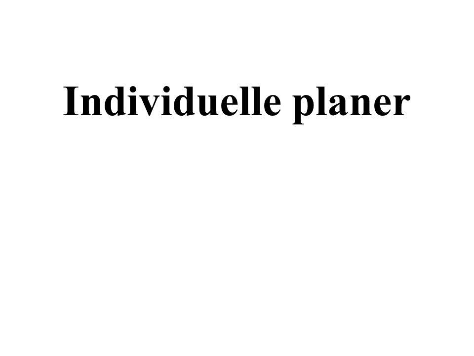 Individuelle planer
