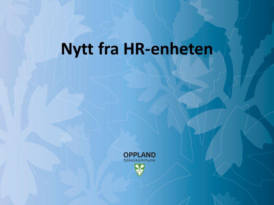 Nytt fra HR-enheten
