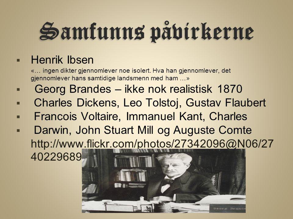  Henrik Ibsen «… ingen dikter gjennomlever noe isolert.