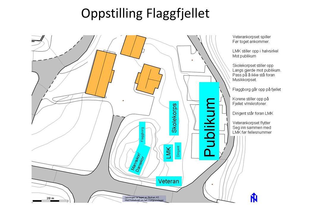 Rute for toget på Fjellhamar skole R.Nordraaks vei - Edv.