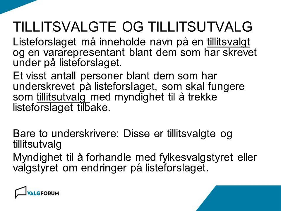 Gardermoen 17.november 2010 FRISTER FOR LISTEFORSLAG § 6-1, 1.