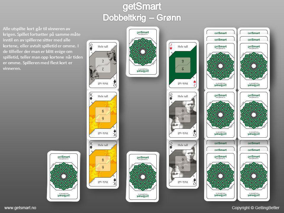Alle utspilte kort går til vinneren av krigen. Spillet fortsetter på samme måte inntil en av spillerne sitter med alle kortene, eller avtalt spilletid