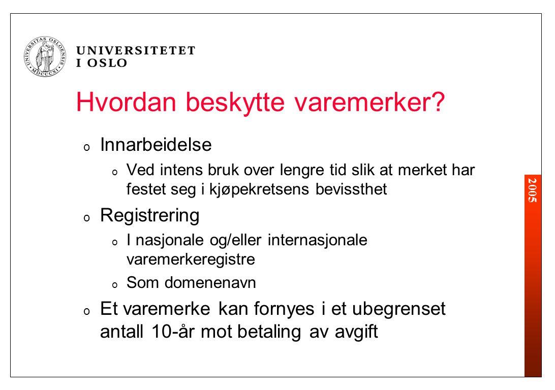 2005 Hvordan beskytte varemerker.