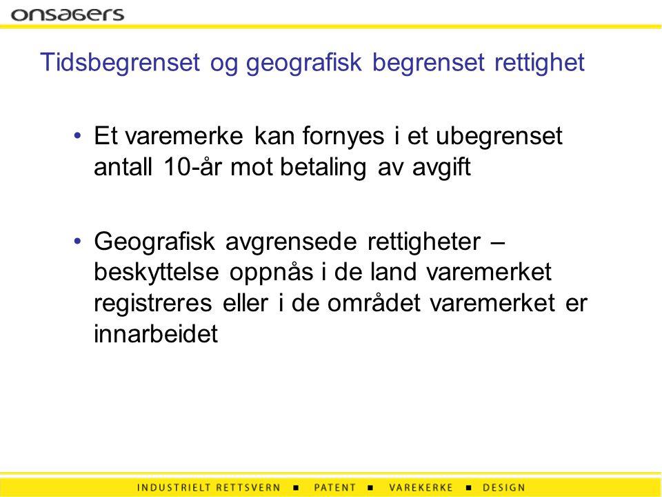 Kriterier for registrering •Må være egnet til å skille varemerkesøkerens varer fra andres = særpreg •Må ikke være beskrivende