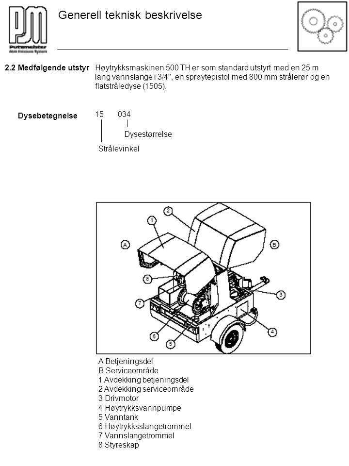 Høytrykksmaskinen 500 TH er som standard utstyrt med en 25 m lang vannslange i 3/4