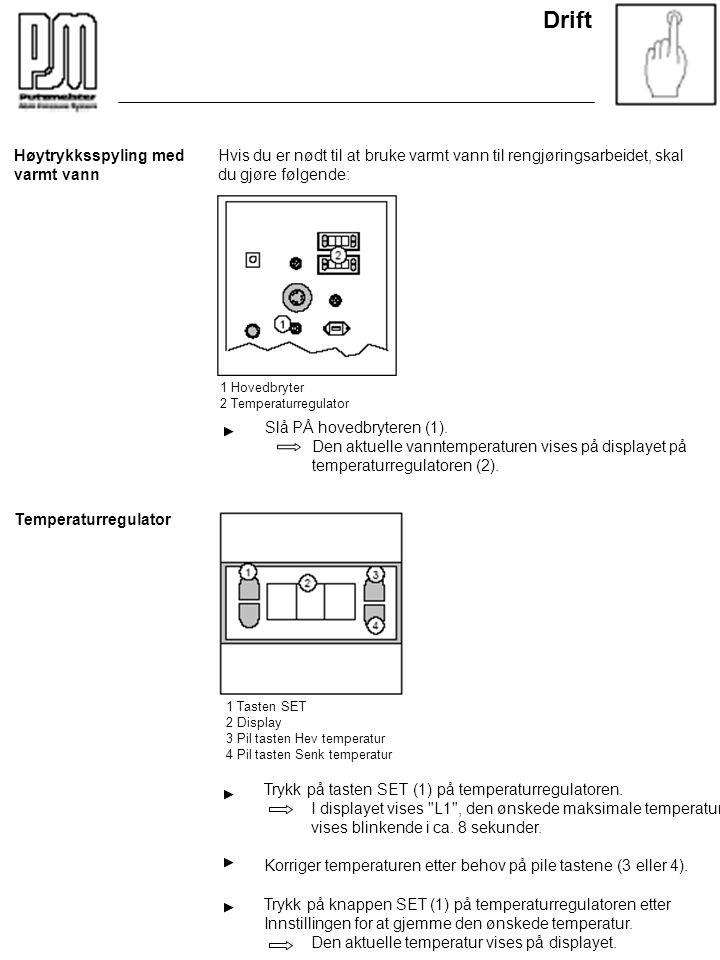Trykk på tasten SET (1) på temperaturregulatoren. I displayet vises