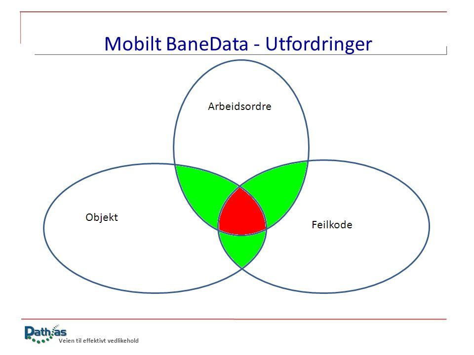 Veien til effektivt vedlikehold Mobilt BaneData - Utfordringer