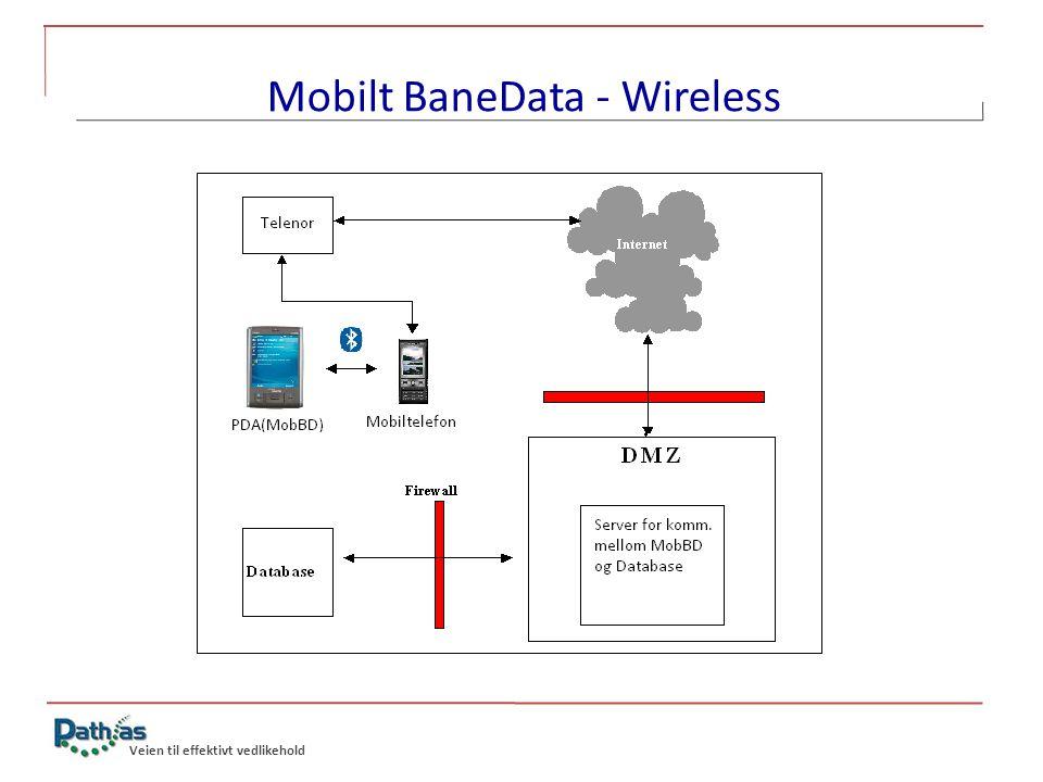 Veien til effektivt vedlikehold Mobilt BaneData - Wireless