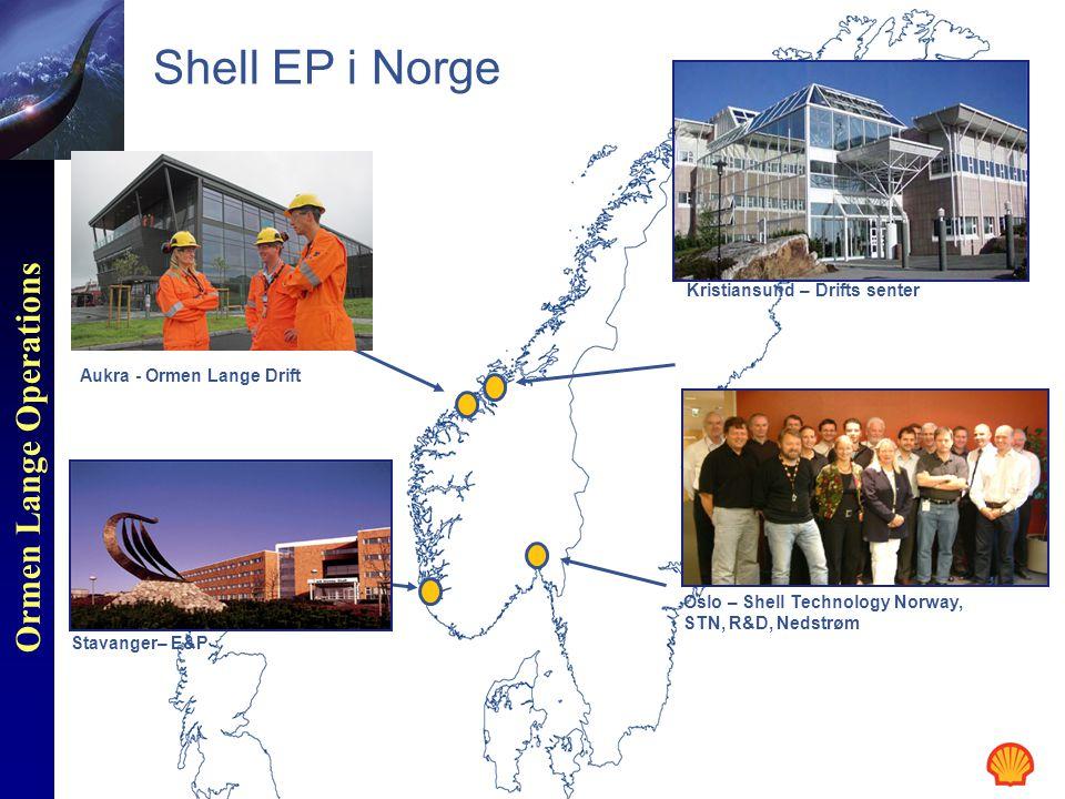 Ormen Lange Operations oForholdet mellom underleverandører og hovedleverandører viktig for Shell : o- HMS o- Leveransekvalitet o- Tidsplan o- Pris oFlere kontrakter igjen for Drifts og Vedlikehold Kontrakter