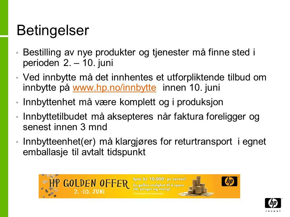 HP Golden Offer – ProLiant servere Spar kr 10 000,- pr.
