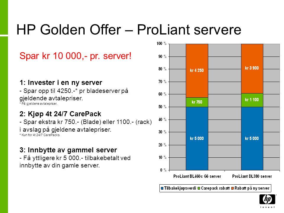 HP Golden Offer – MSA lagringssystem Spar mer enn kr 10 000.- pr MSA 2000fc G2 SAN.
