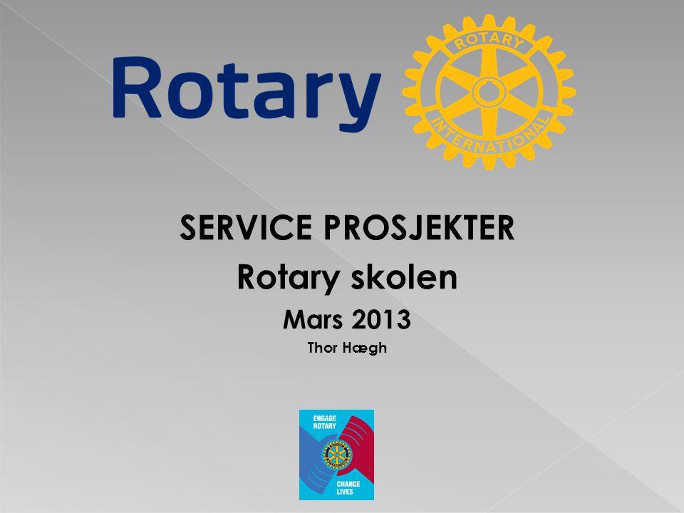 Rotary s formål er å fremme og styrke viljen til å gagne andre gjennom : • Å utvikle vennskap som grunnlag for å gagne andre.