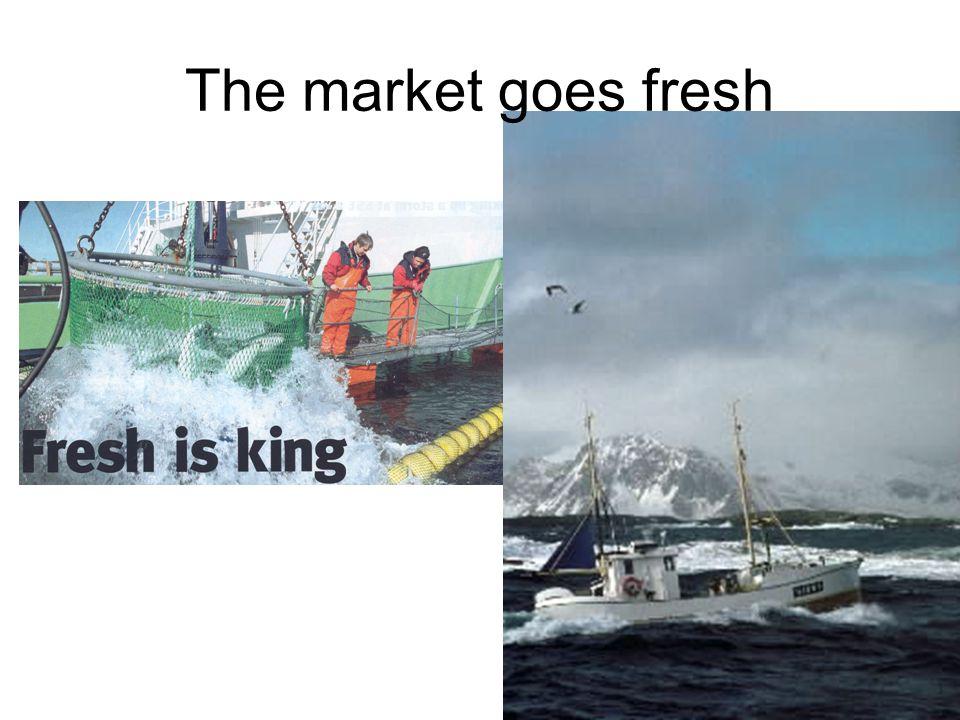 The market goes fresh