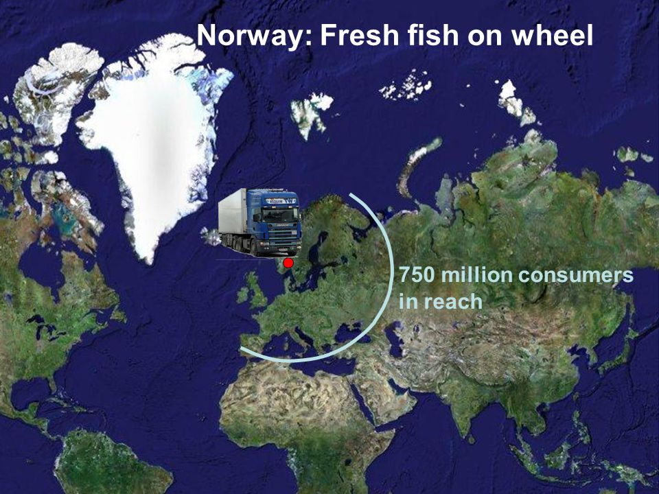 750 million consumers in reach Norway: Fresh fish on wheel