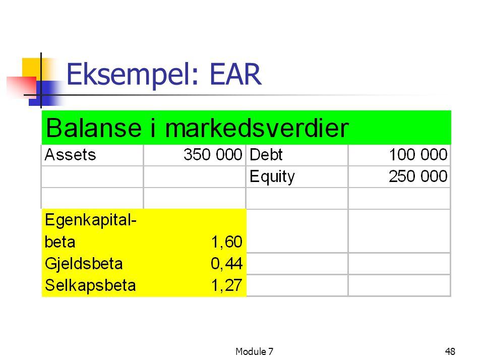 Module 748 Eksempel: EAR