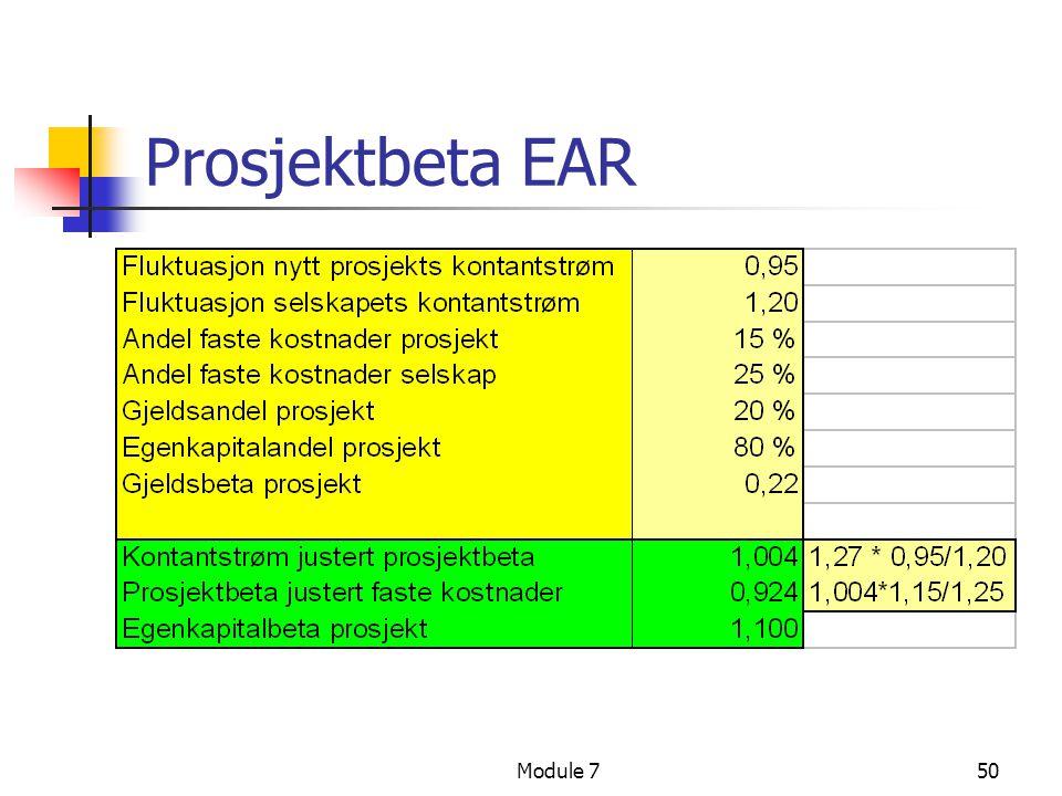 Module 750 Prosjektbeta EAR