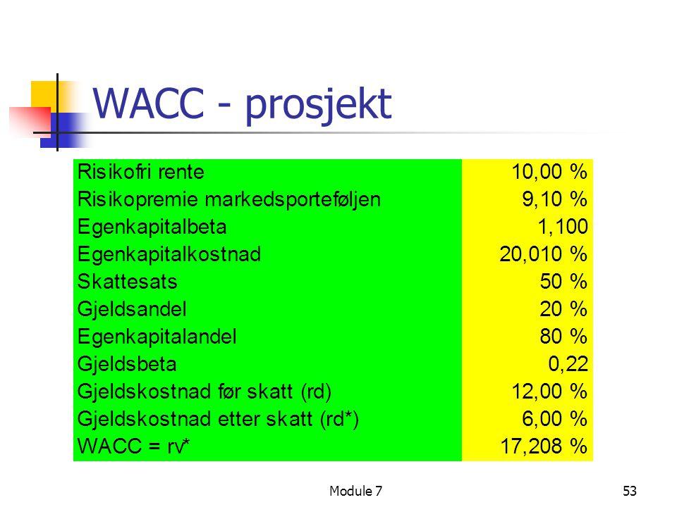 Module 753 WACC - prosjekt