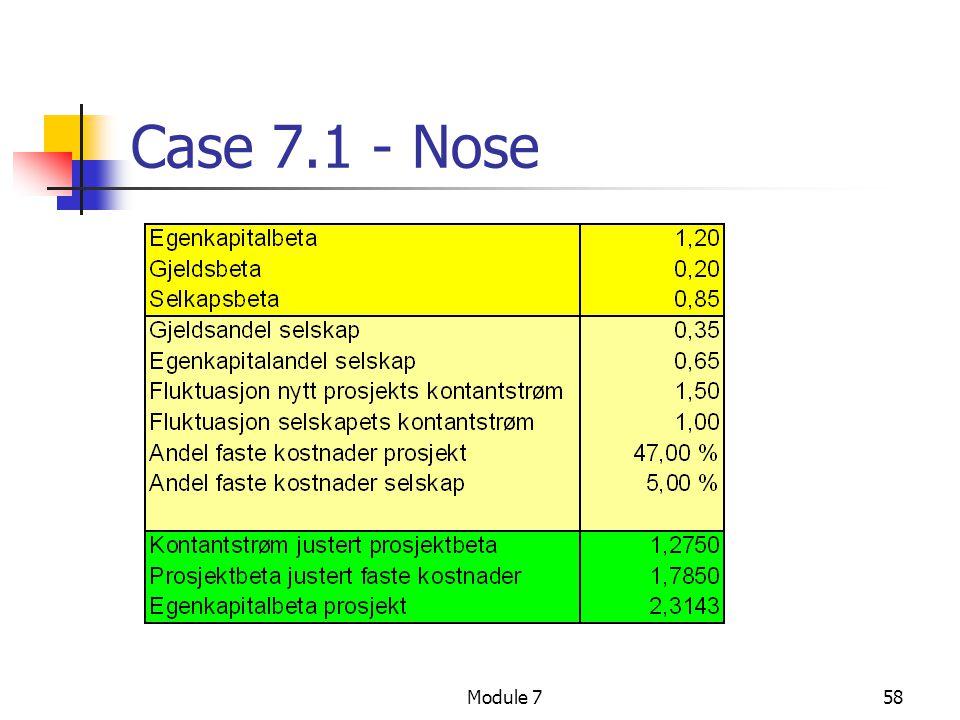 Module 758 Case 7.1 - Nose