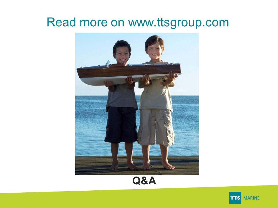 Read more on www.ttsgroup.com Q&A