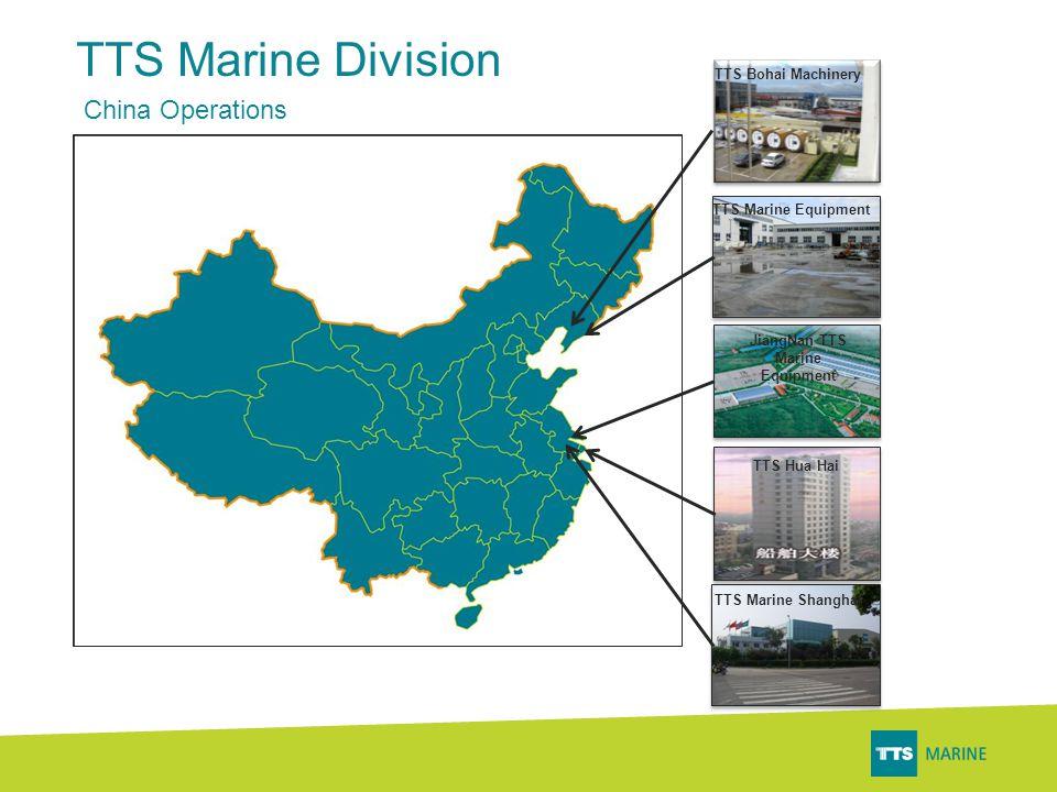 TTS Marine Division China Operations TTS Bohai Machinery TTS Marine Equipment JiangNan TTS Marine Equipment TTS Hua Hai TTS Marine Shanghai
