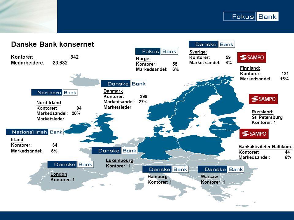 • Sverige • Norge • Finland • Danmark • Tyskland • Storbritannia • Polen • Irland • Nord-Irland (Tidligst 2008) • Baltikum En bank - ett system Land som er integrert med bankens sentrale IT-plattform: