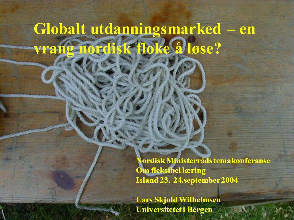 Globalt utdanningsmarked – en vrang nordisk floke å løse.