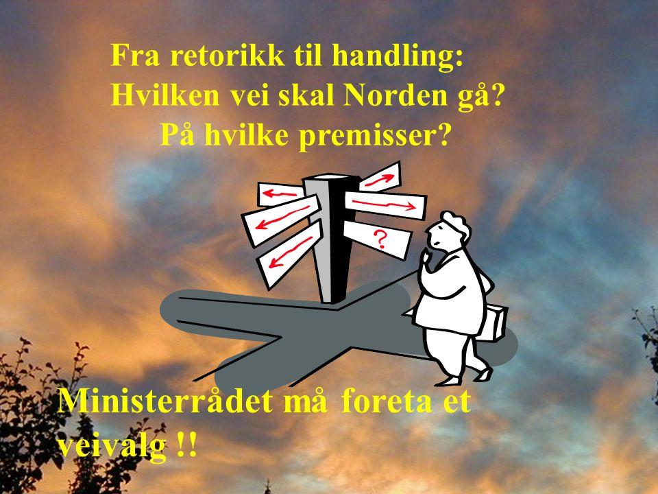 Fra retorikk til handling: Hvilken vei skal Norden gå.