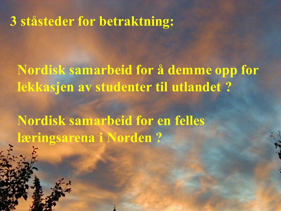 Har Nordisk Ministerråd noen mening?
