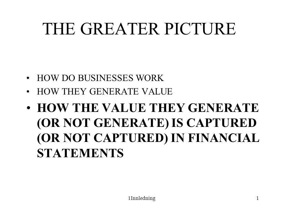 Financial Statement Analysis Financial statements are the lens on a business.