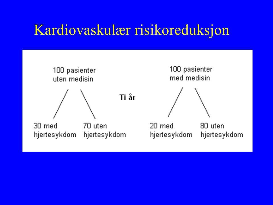 Kardiovaskulær risikoreduksjon