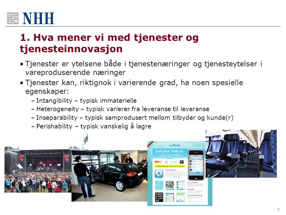 4.Brukerdrevet tjenesteinnovasjon i bedriftsmarkedet m.