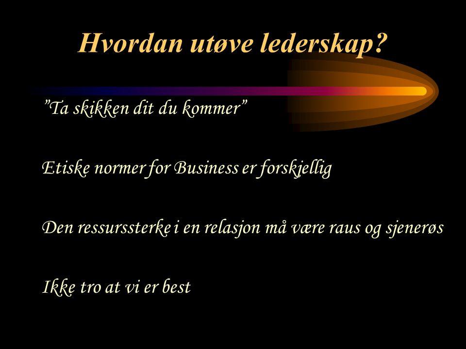 Hvordan utøve lederskap.