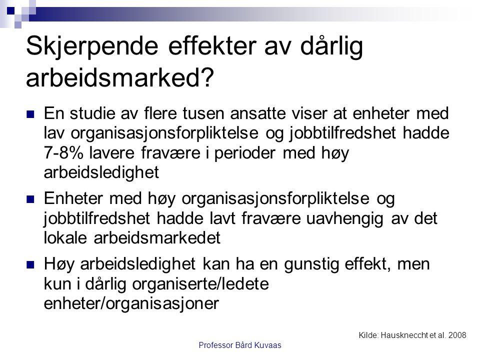Professor Bård Kuvaas Hva med jobbusikkerhet – vil de ansatte skjerpe seg.