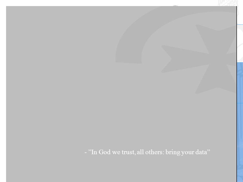 Nasjonalt senter for selvmordsforskning og -forebygging Walby 200946 - In God we trust, all others: bring your data