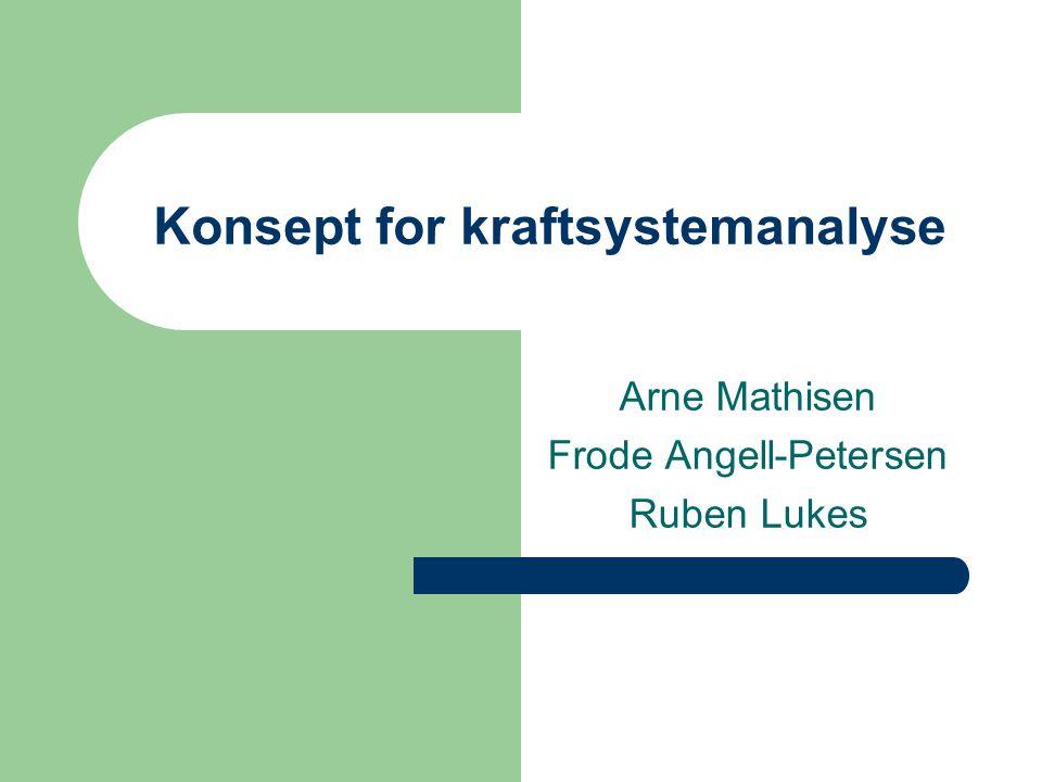 Konsept for kraftsystemanalyse Arne Mathisen Frode Angell-Petersen Ruben Lukes