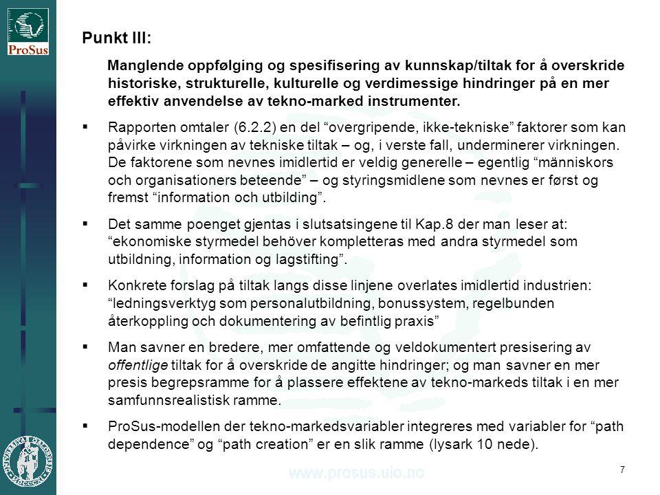 8 Punkt IV: Et fravær av perspektiver på integrering av klimapolitikk i eksisterende strategier/programmer for bærekraftig utvikling (europeiske, nordiske, nasjonale og lokale tiltak).