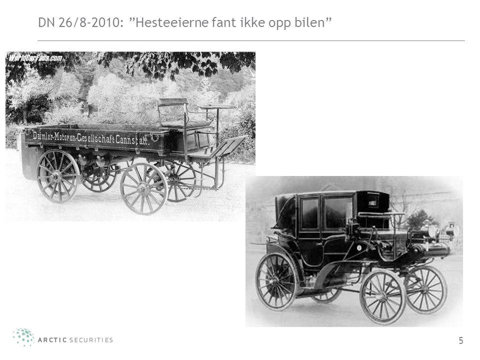 """DN 26/8-2010: """"Hesteeierne fant ikke opp bilen"""" 5"""