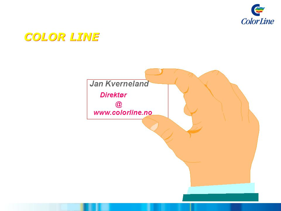 COLOR LINE Jan Kverneland Direktør @ www.colorline.no