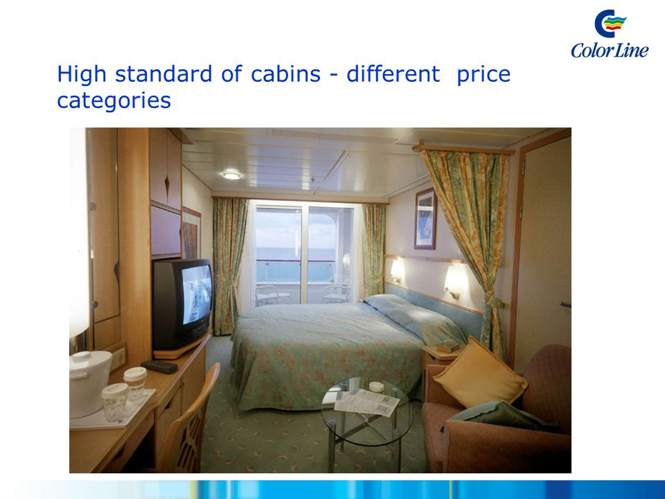 High standard of cabins - different price categories