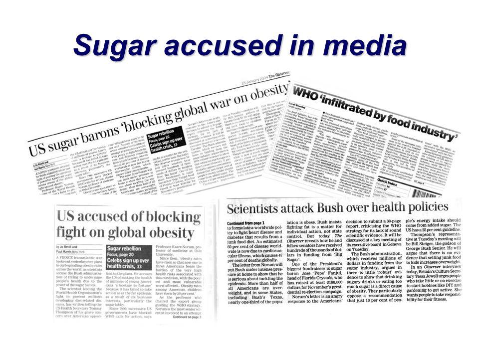 Sugar accused in media