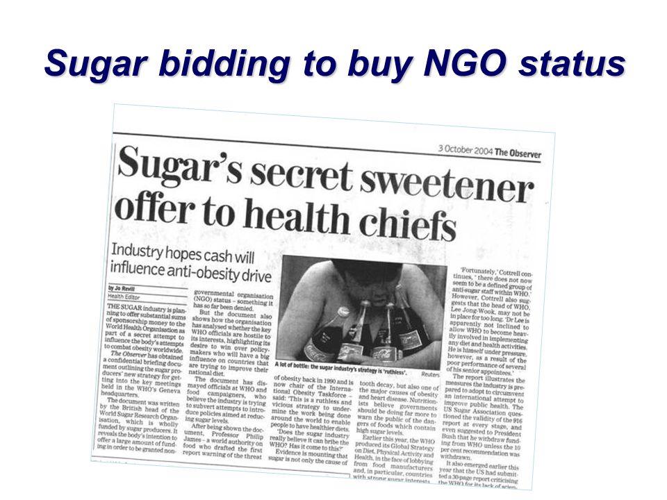 Sugar bidding to buy NGO status